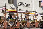Tallinn. Estonia. Open air cafe in Old Town