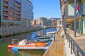 Oslo. Norway. Private boats. Aker Brygge