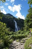 The Parcines Waterfall In South Tyrol, Italy