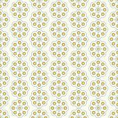 Gold Sweet Vintage Flower And Rectangle Pattern On Pastel Background