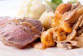 Roasted Leg Of Lamb With Sweet Potato Gnocchi