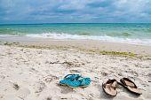 Shoes Near Sea