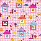 pic of baby pig  - cute baby animals in houses kids pattern - JPG