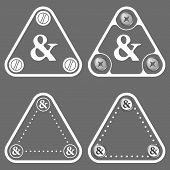 image of ampersand  - Set of four flat simple frames and ampersand - JPG