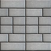 stock photo of paving  - Gray Paving Slabs in the Form Rectangles of Different Value - JPG
