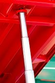 stock photo of hydraulics  - Close up of hydraulic pipe on new agricultural machinery
