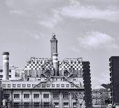 image of genova  - electric power plant in the harbour of genova - JPG