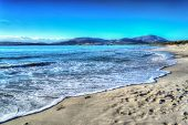 picture of shoreline  - Maria Pia beach shoreline on a clear day - JPG