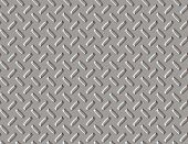 Seamless Diamond Plate Background In Small Silver poster
