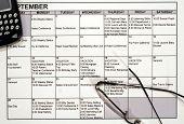 Busy Calendar, Pda & Glasses