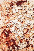 stock photo of rusty-spotted  - Texture of rusty with drip on steel wall background - JPG