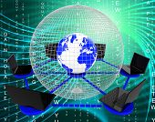 foto of globalization  - Global Computer Network Meaning Communicate Worldwide And Globally - JPG