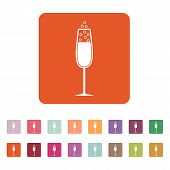foto of sparkling wine  - The glass of champagne icon - JPG