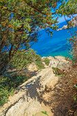 pic of shoreline  - Capo Testa shoreline on a clear day - JPG