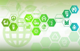 pic of environmentally friendly  - Eco friendly background calls for environmental protection - JPG