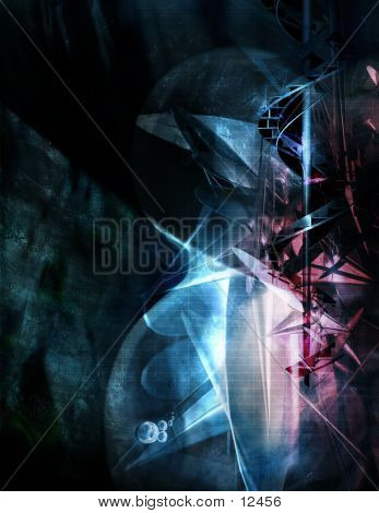 Abstract, Three Dimensional, Digital Background 6 poster