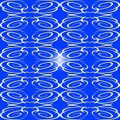 blue decorative seamless ornament background flow pattern