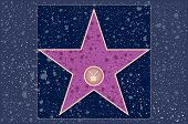 Hollywood walk of fame: television blank star