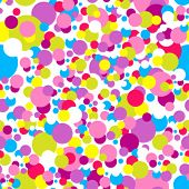 Seamless confetti pattern in childish colors