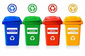 foto of recycling bins  - Big containers for recycling waste sorting  - JPG