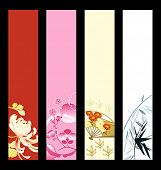 Asian art banner or sider backgrounds. Base banner size is 120x600.