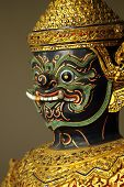 picture of asura  - Asura ramayana Thai traditional sculpture on Barge - JPG
