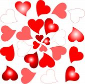 love sign romantic hearts design background