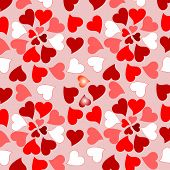 Floral valentines hearts romantic design background