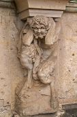 Satyr supporting column, Zwinger Palace