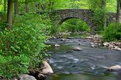 stone bridge over Pocantico River in New York State