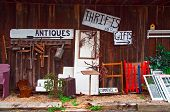 foto of thrift store  - View of antiques thrift store with various items displayed - JPG