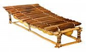 foto of idiophone  - balafon is african musical instrument of wood - JPG