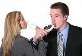 Business Couple Celebrating