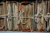 image of annal  - Very old paper records in storing room - JPG