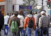 Teenagers Crossing The Street
