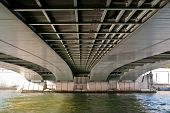 Underside View of the Alma Bridge