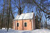 little church in winter