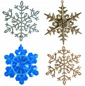 snowflake ornament  isolated on white background