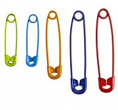 Colorful safety pins