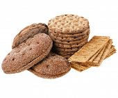 image of wasa bread  - crispbread and rye bread  isolated - JPG