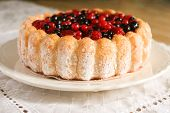 Berry Sponge Cake Close