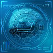 Cryptocurrency Dash Futuristic poster