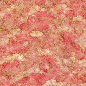 Strawberries and Cream Fluffy Pink  Background poster