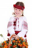 Little Girl In The National Ukrainian Costume