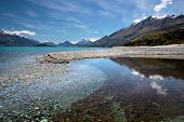Banks Of Lake Wakatipu Between Queentown And Glenorchy