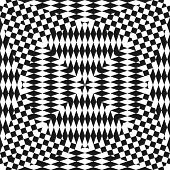 Abstract Vector Black And White Geometric Checkered Pattern. Seamless Texture With Diamond Shapes. O poster
