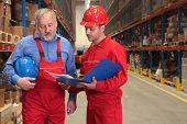 Senior Worker And Supervisor In Warehouse