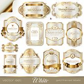 stock photo of gold  - white gold - JPG