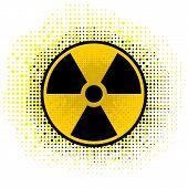 Ionizing Radiation Sign. Radioactive Contamination Symbol. Warning Danger Hazard. poster