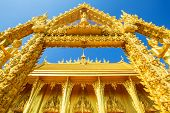 Golden Chapel Temple Of Wat Pak Nam (joe Low) Is A Buddhist Temple In The Historic Centre And Is A B poster